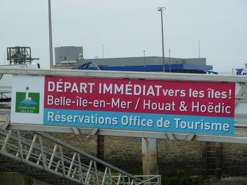 Partida do porto de La Turballe para as ilhas, Belle-Ile-en-Mer, Houat e Hoëdic.