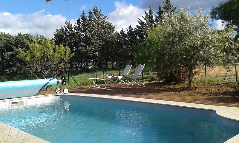 Heated private pool