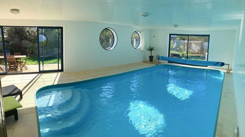 NOUVEAU EN 2019  Villa 4* piscine intérieure privée / SPA - Plage à 200m, alquiler de vacaciones en Plouescat