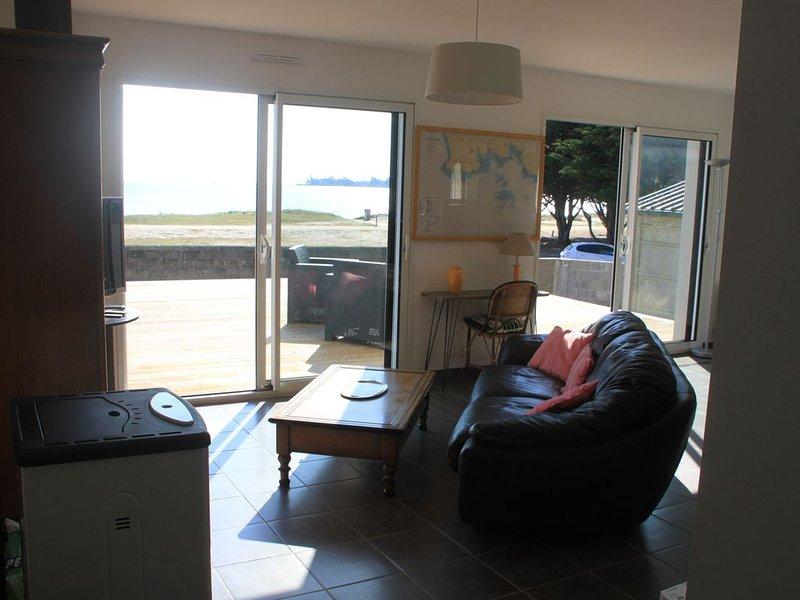 Maison vue mer sur la plage du Teven à l'Île-Tudy., location de vacances à Île-Tudy