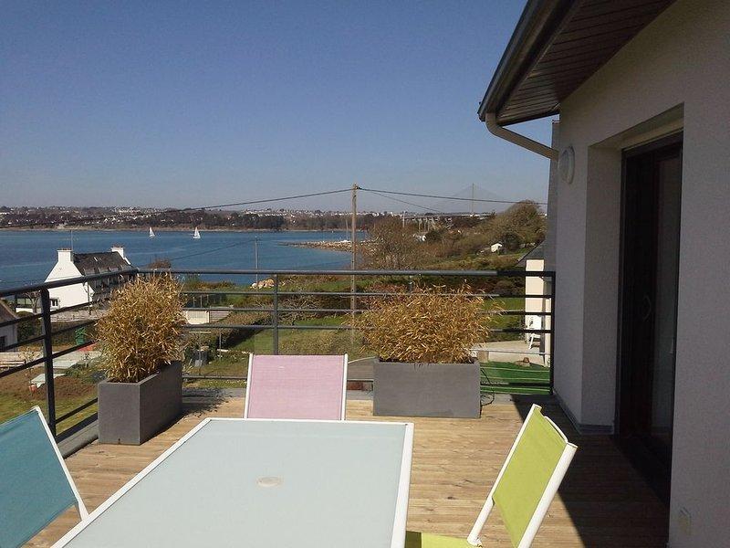 gite 3 clés vacances vue mer  et brest  à plougastel, holiday rental in Daoulas