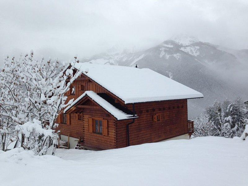 Magnifique chalet 12P ,Vue exceptionnelle, accés au télécabine a 300m , Pra Loup, aluguéis de temporada em Enchastrayes