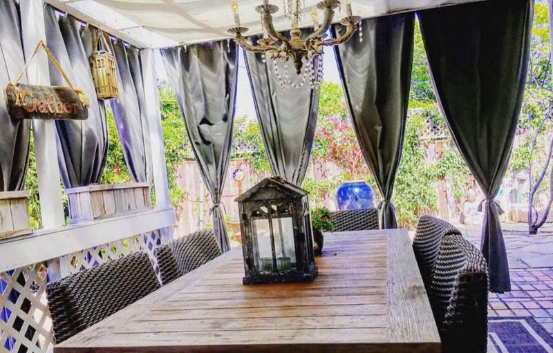 Beautiful outdoor dining area