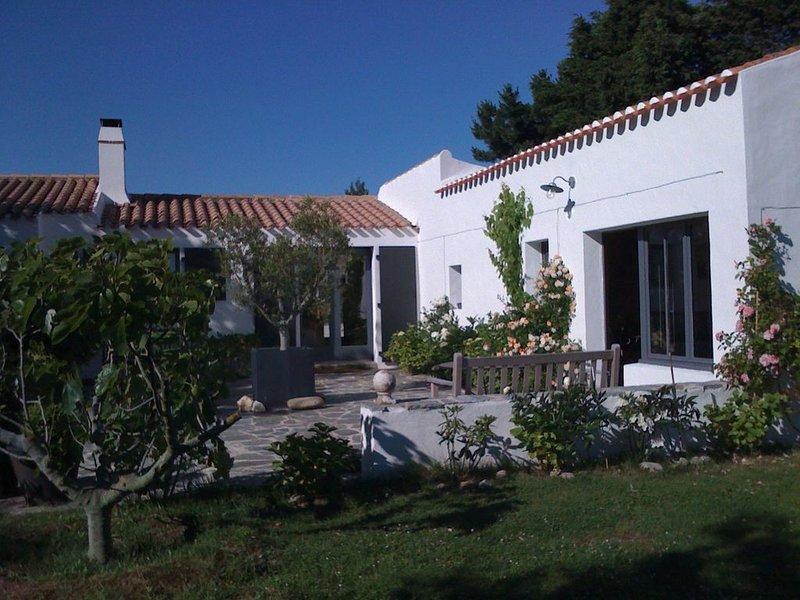 4 chambres, jardin 3000m2, au calme, près du Vieux Chateau,  piscine 16m, vakantiewoning in Ile d'Yeu