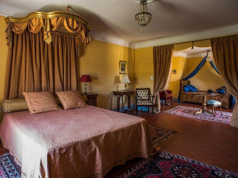 Grande Suite 'Louise de Savoie' au château (capacité 4), location de vacances à Valensole
