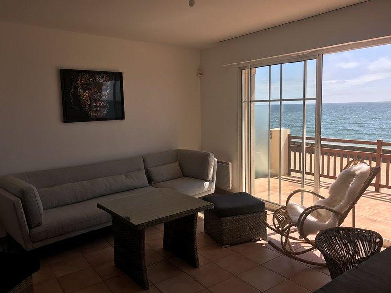 Vue mer exceptionnelle - Villa sur la plage Valentin - accès direct, location de vacances à Batz-sur-Mer