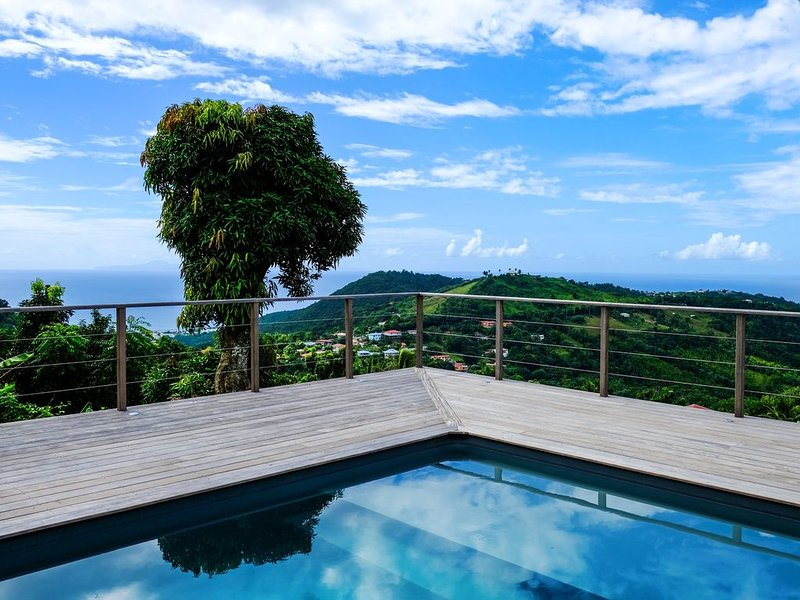 180 ° sea view from the pool