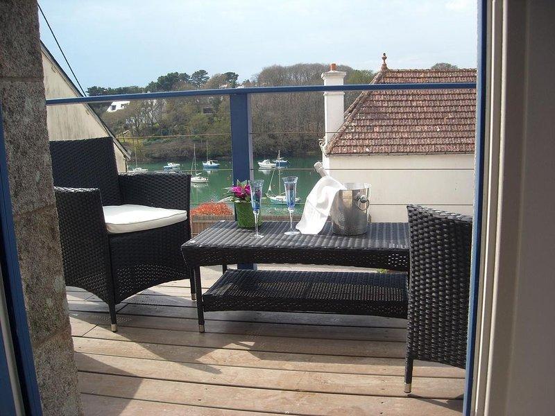 Magnifique appartement, vue port de Doelan Bretagne sud, holiday rental in Doelan