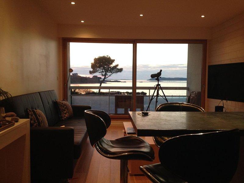 Appartement grande vue mer, holiday rental in Trevou-Treguignec