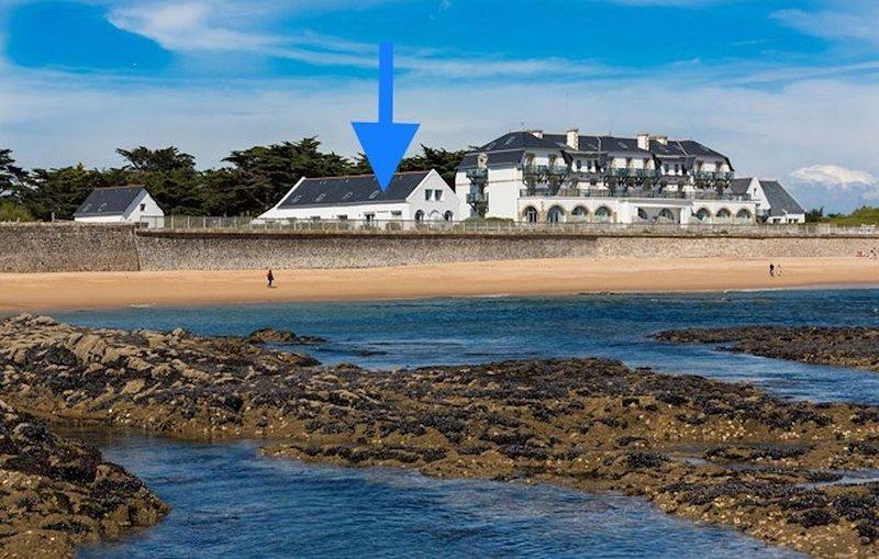 SuperbeT2 duplex vue mer, piscine, accès plage, location de vacances à Batz-sur-Mer