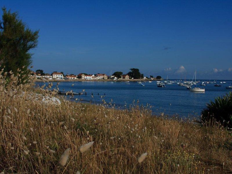 Vista del Mardi Gras e del villaggio di Vieil dalla spiaggia di Clère