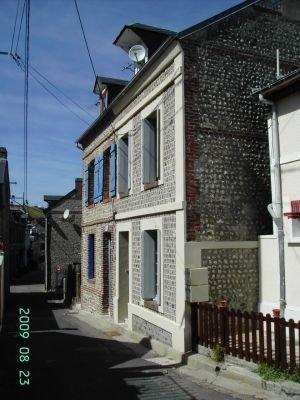 La fachada de la casa.