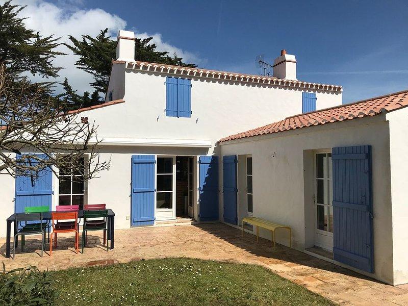 Maison familiale proche de la plage des Sableaux et du centre de Noirmoutier, alquiler de vacaciones en Noirmoutier en l'Ile