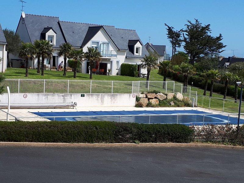Pléneuf Val André: Maison avec Piscine près Golf, aluguéis de temporada em Pleneuf-Val-Andre