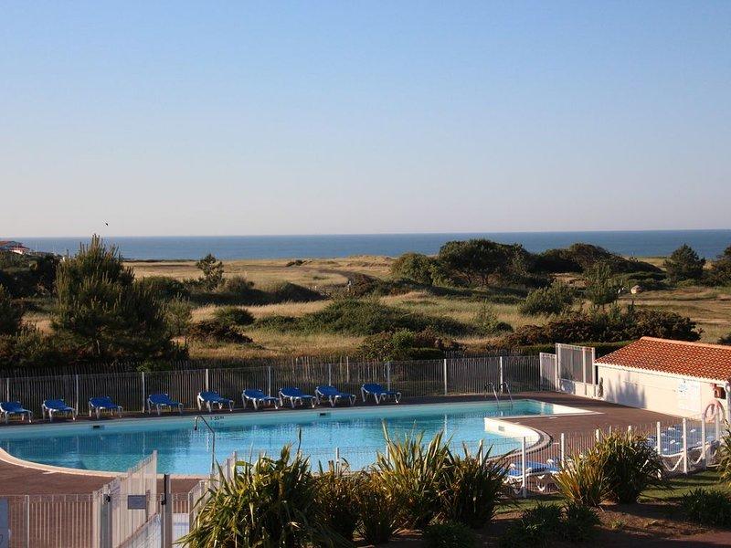 T2  avec belle vue mer,  piscine , au calme dans résidence de standing fermée, alquiler vacacional en Château-d'Olonne