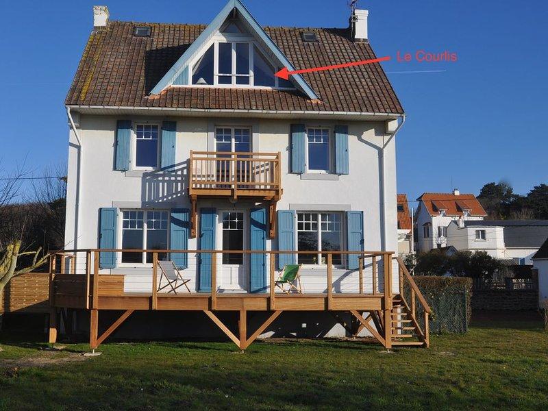 Appartement au 2ème étage classé meublé tourisme . Pleine vue sur mer et dunes, location de vacances à Marquise