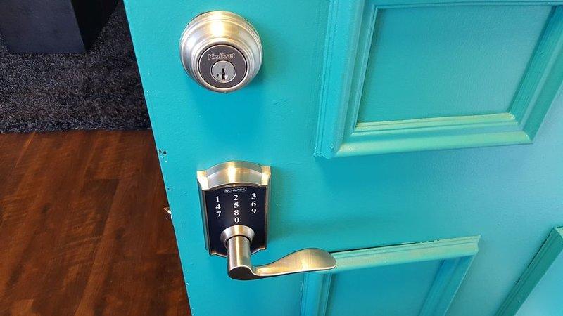 Entrée sans clé, vous pouvez donc aller et venir à tout moment du jour ou de la nuit.
