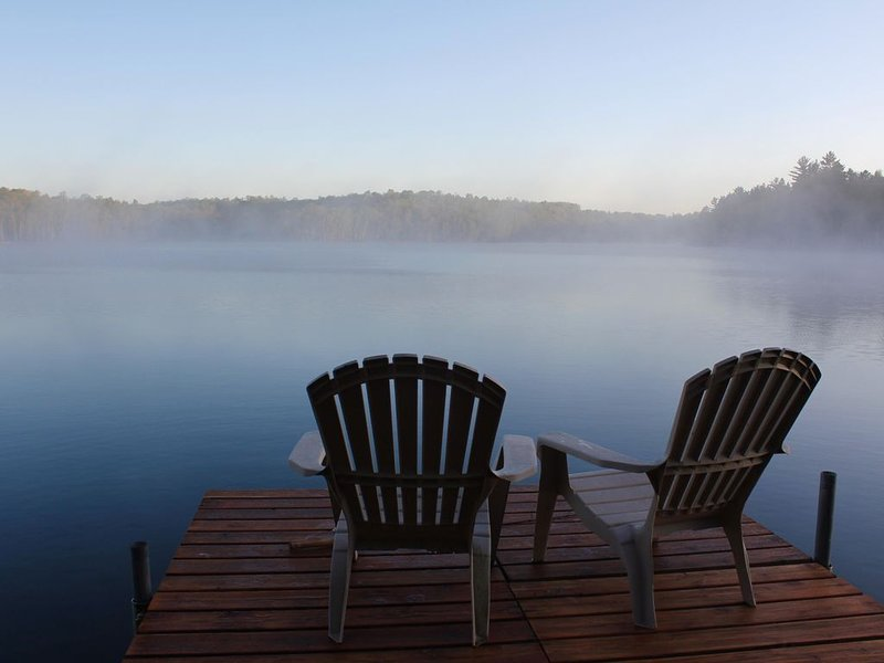 Little Trout Lake Cabin on the pristine Wabana Chain: Views, Wooded, Bunkhouse, holiday rental in Deer River