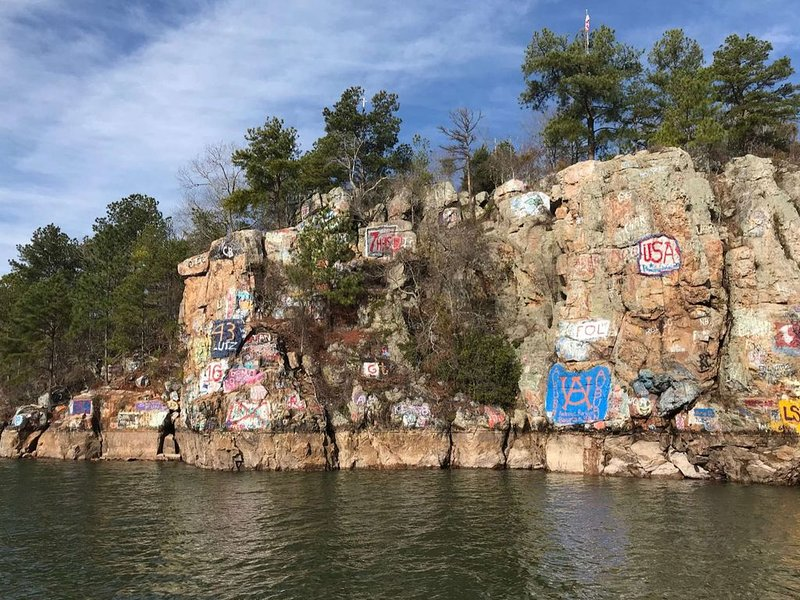 We are 10 minutes from Chimney Rock by boat