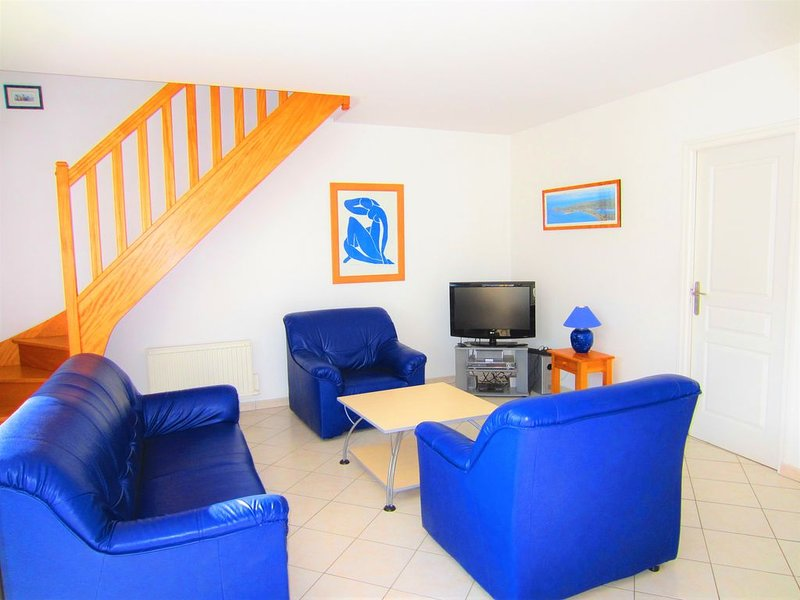 Maison Aurigny pour 6 à 8 personnes en bord de mer, Barneville-Carteret, location de vacances à Saint-Jean-de-la-Rivière
