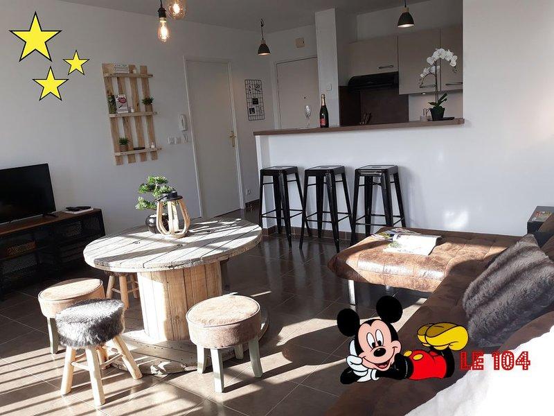 Appartement le 104 - Disneyland Paris - Val d Europe, location de vacances à Bailly-Romainvilliers