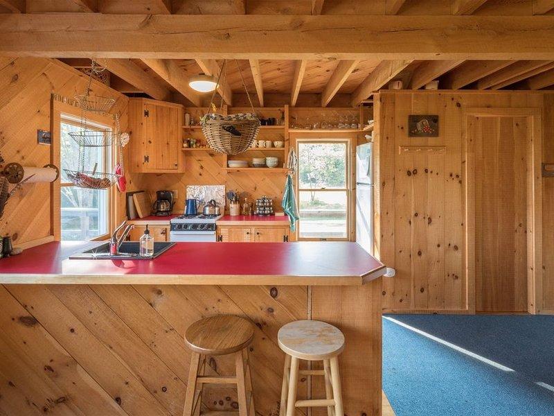 Cabin house kitchen.
