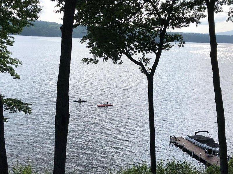 Kayaks on the lake enjoying the day