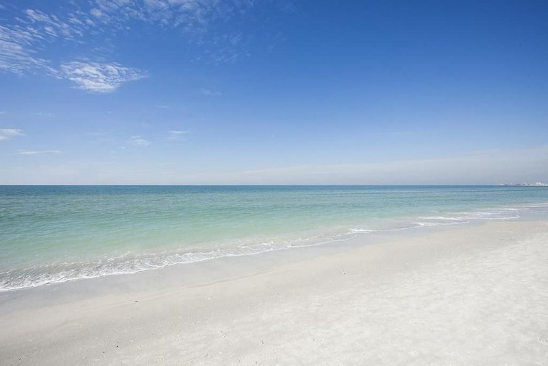 The azure waters of the Gulf of Mexico are just outside your door.