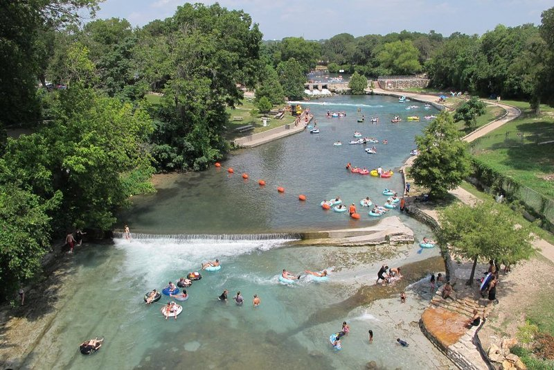 The famous 'shoot' on the Comal River - only 20 minutes away.  Prince Solms Park