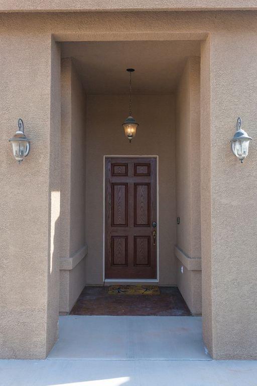Rote Eingangstür Eingang