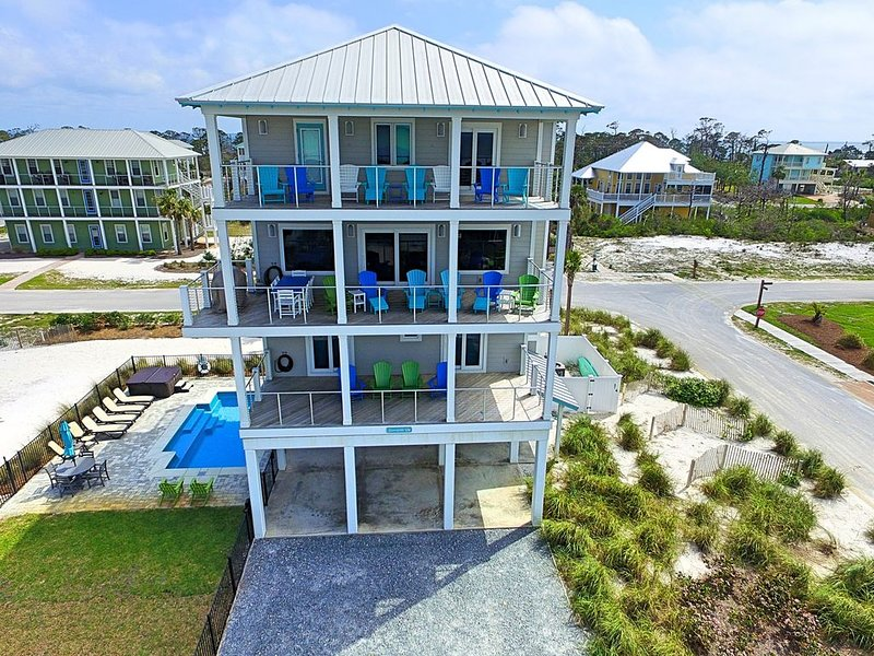 Gulf-view 1st tier, private pool, elevator, upscale finish, fantastic views, alquiler de vacaciones en Cape San Blas