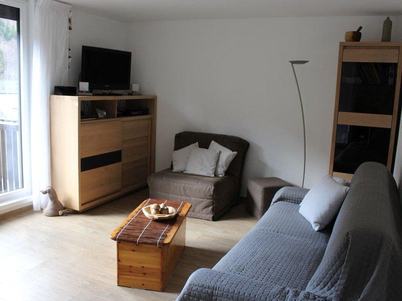 Studio21m²-  2* - centre ville- wifi - balcon - parking privé - linge compris, holiday rental in Le Mont-Dore