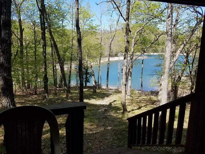 The lake is a short walk from the Lower Deck