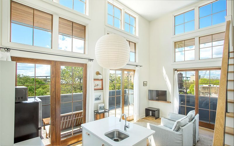 Floor to ceiling windows provide unparalleled beauty.