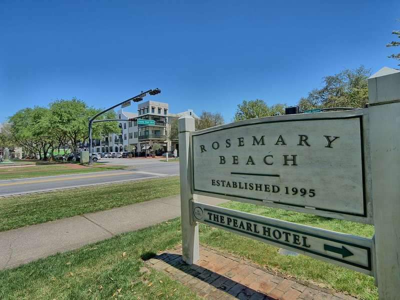 a short walk to Rosemary Beach shops and coffee bars