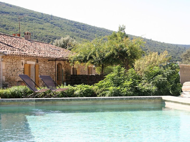 Restored farmhouse with private pool, pool house and summer kitchen, Ferienwohnung in Vaucluse