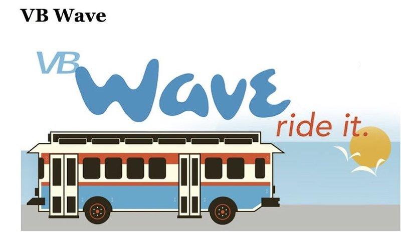 De Wave-bus rijdt van Memorial Day tot Labor Day. Shore Dr. naar Oceanfront