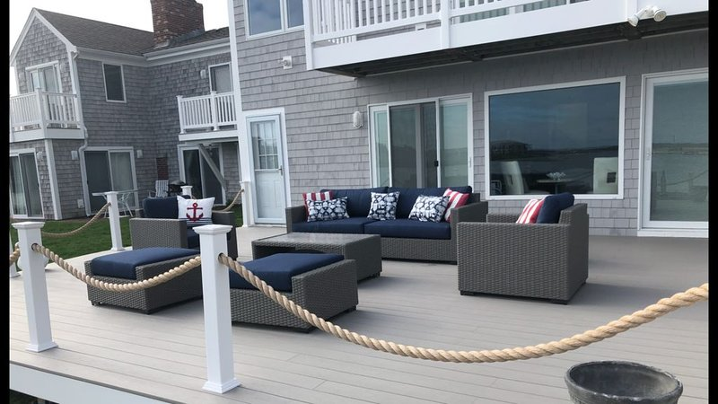 New decking with outdoor living