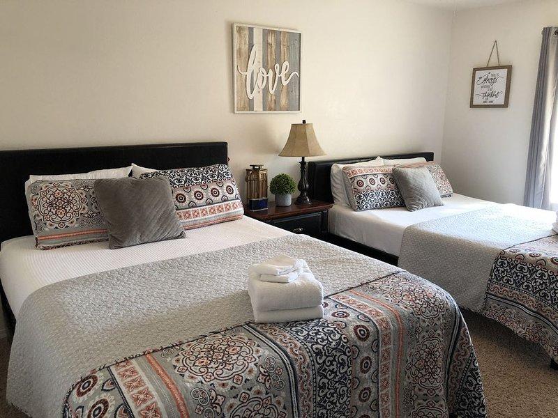 Bedroom #2: with two queens beds: 1- firm memory foam 1- soft memory foam