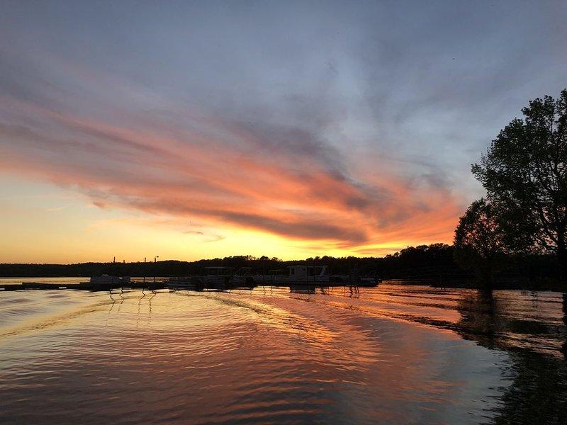 Coucher de soleil sur le lac Wateree