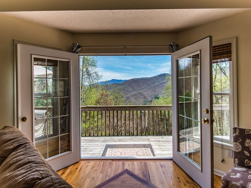 Private Gorgeous Mountain View Chalet- SUPER RATES, holiday rental in Weaverville