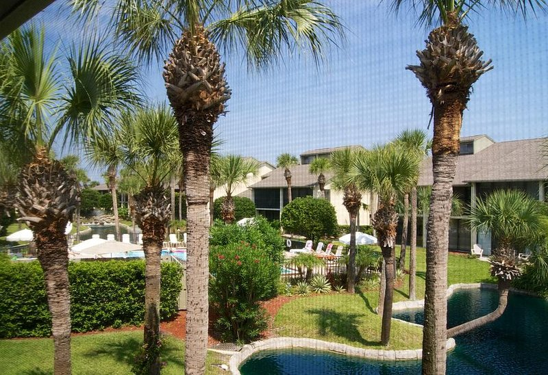 Begin your mornings with coffee on covered lanai overlooking both the lagoon and, vacation rental in Saint Augustine Beach
