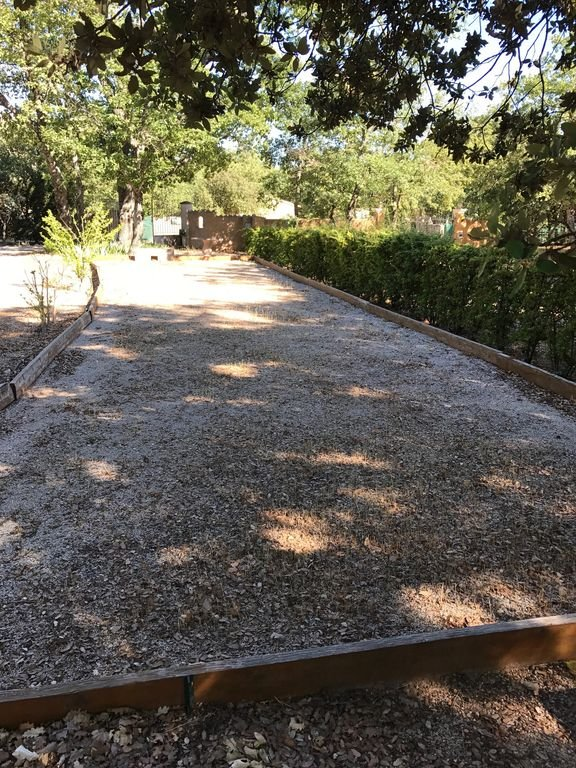 The ground for petanque