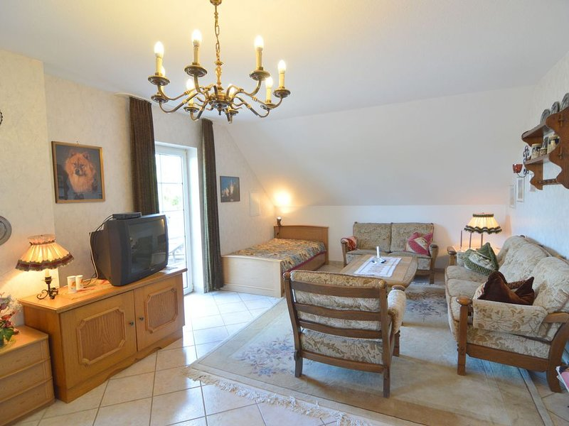 Holiday apartment with luxurious bathroom, large balcony and magnificent view, holiday rental in Bleialf