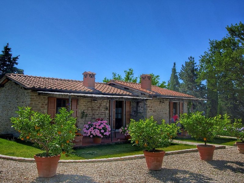 Cozy Farmhouse with Swimming Pool in Tuscany, holiday rental in Loro Ciuffenna
