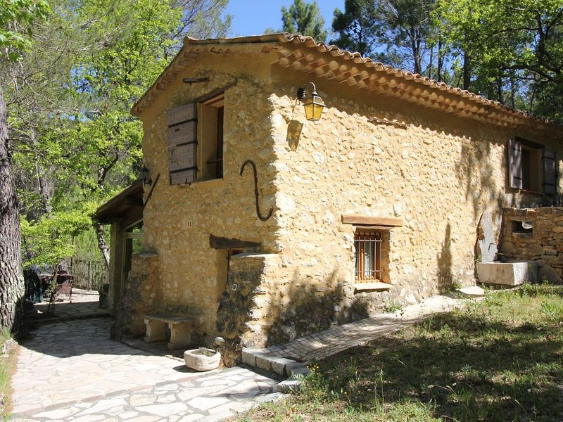 Provencal gite with shared pool. Here you find your rest in the beautiful nature, holiday rental in Barjols