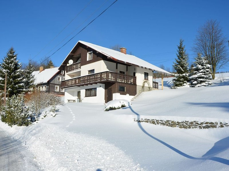 Spacious cottage in the Giant Mountains, 1 km from the skislopes, vacation rental in Jestrabi v Krkonosich