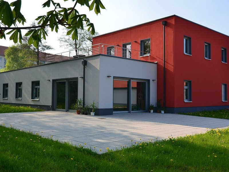 Modern holiday apartment with roof terrace in the Thuringian Forest region, casa vacanza a Hoerselberg-Hainich