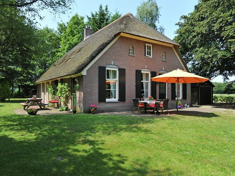 An authentic Veluwe farm house with thatched roof in the countryside, holiday rental in Vaassen