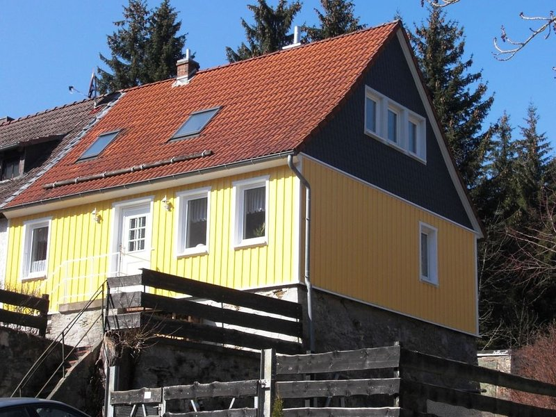 Holiday house with more comfortable facilities right on Harz Witches, holiday rental in Stiege